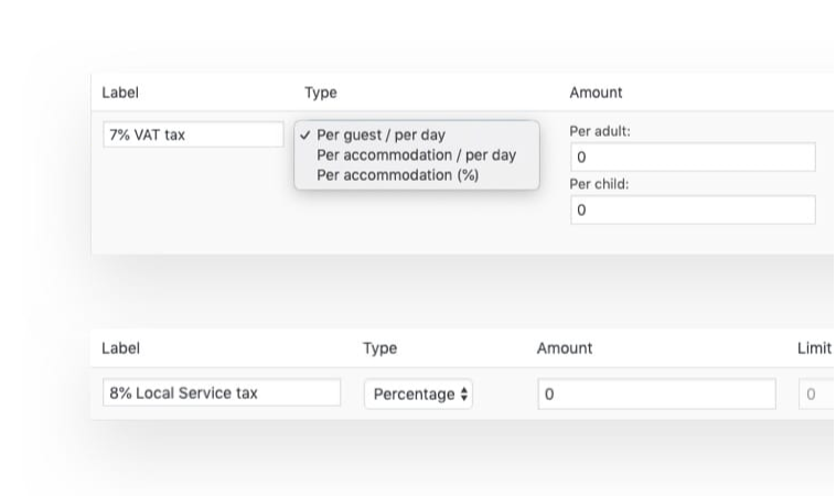 Taxes and Fees screenshot